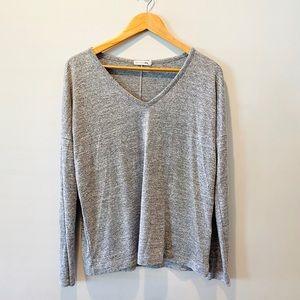 Rag & Bone VNeck Grey Lightweight Sweater